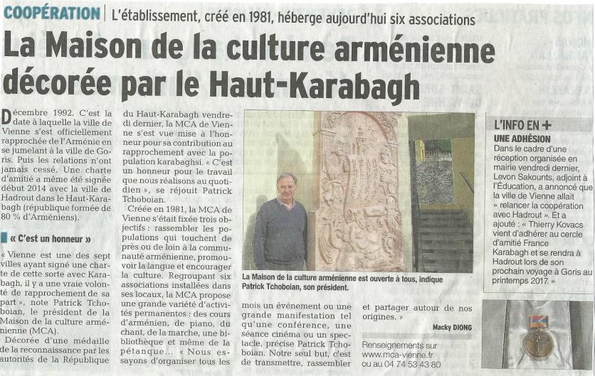 La Maison de la culture arménienne décorée par le Haut-Karabagh